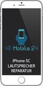 Wenn man das iPhone 5C von der Display Seite betrachtet, sitzt der Lautsprecher an der unteren Öffnung rechts. Wenn das iPhone 5C keinen Ton mehr von sich her gibt, dann ist Wahrscheinlich der Lautsprecher nicht ordentlich angebracht oder auch defekt. Sollte der Ton zu leise sein oder verzerrt klingen, dann wird auch meistens der Lautsprecher getauscht. Eine Reinigung der Öffnung an dem iPhone 5C ist in einigen Fällen auch Möglich um den Fehler zu beseitigen.