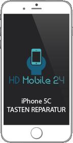 Das iPhone 5C hat insgesamt vier Tasten. Einmal hat das iPhone 5C den Homebutton, den Ein Aus Schlater und die Lautstärke Tasten. Die Ein Aus Taste iPhone 5C lässt sich drücken, jedoch reagiert Sie nicht. Dann muss diese Taste getauscht werden.