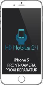 Das iPhone 5 macht mit der Frontkamera keine Bilder mehr oder hat schwarze Punkte im Bild. Das Telefon drückt die Tasten über den Touch, weil es nicht mehr erkennt, das das iPhone 5 am Ohr gehalten wird.